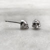 Tiny Silver Skull Stud Earrings
