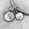 Triple Coin Silver Bangle