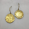 Gold Tudor Coin Earrings