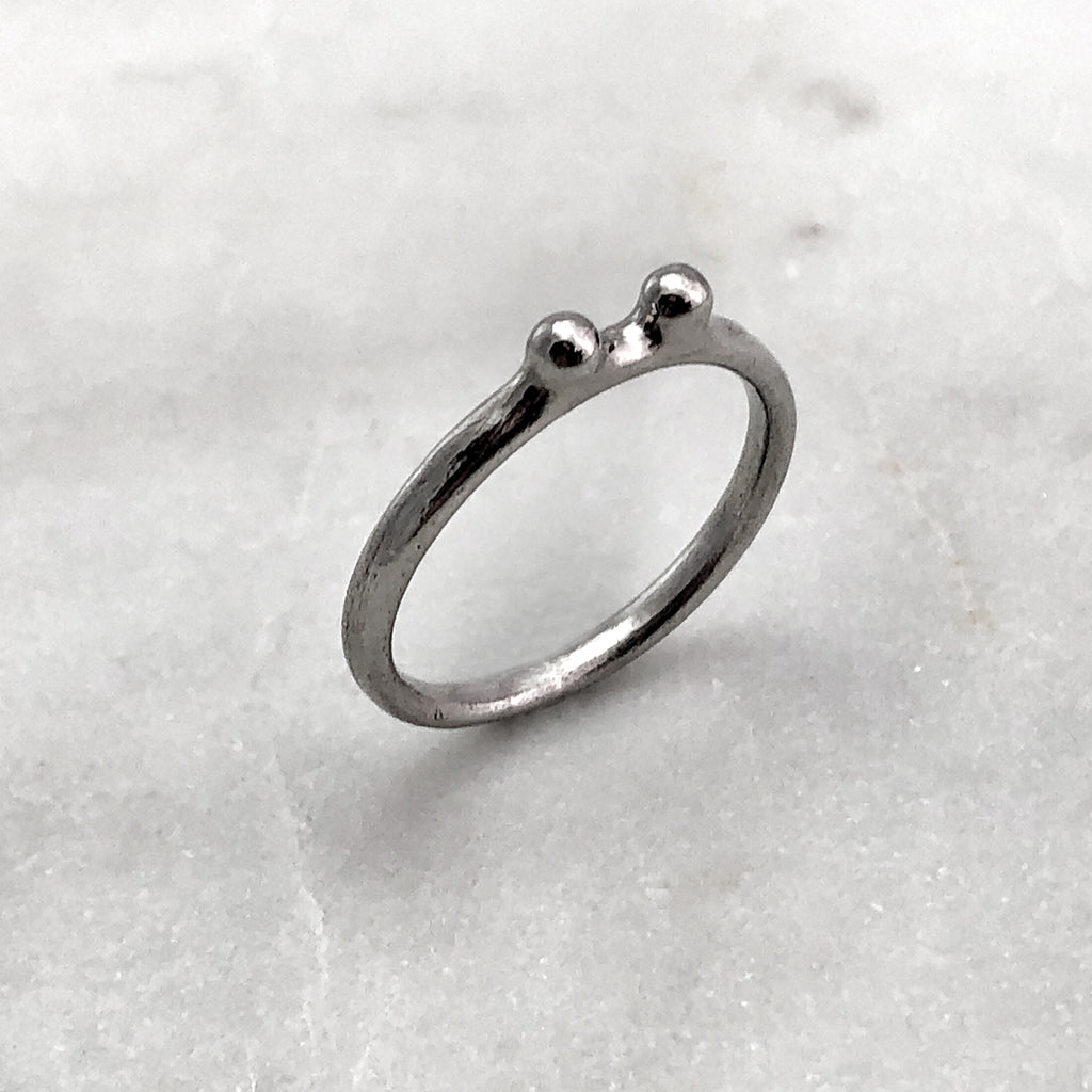 Two Ball Silver Ring