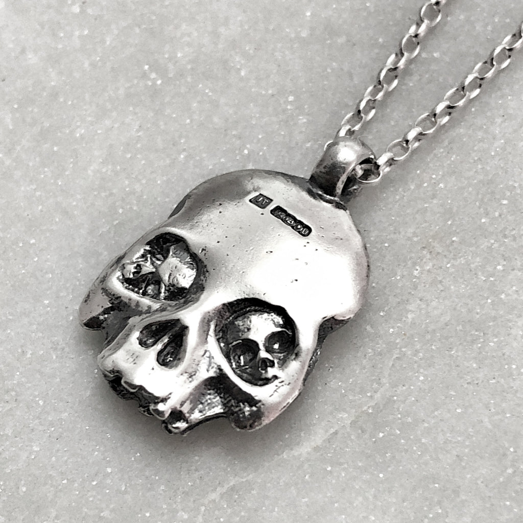 Two Faced Skull Necklace