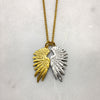 Tiny Gold & Silver Wing Necklace