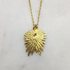 Tiny Double Gold Wing Necklace