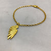 Gold Single Wing Bracelet