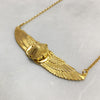 Winged Gold Scarab Beetle Necklace