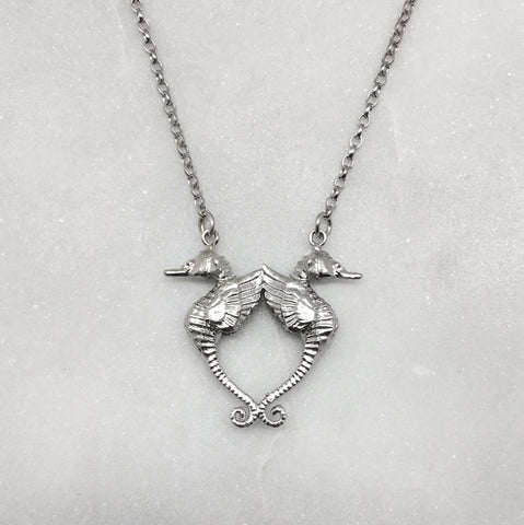 Double Winged Seahorse Necklace