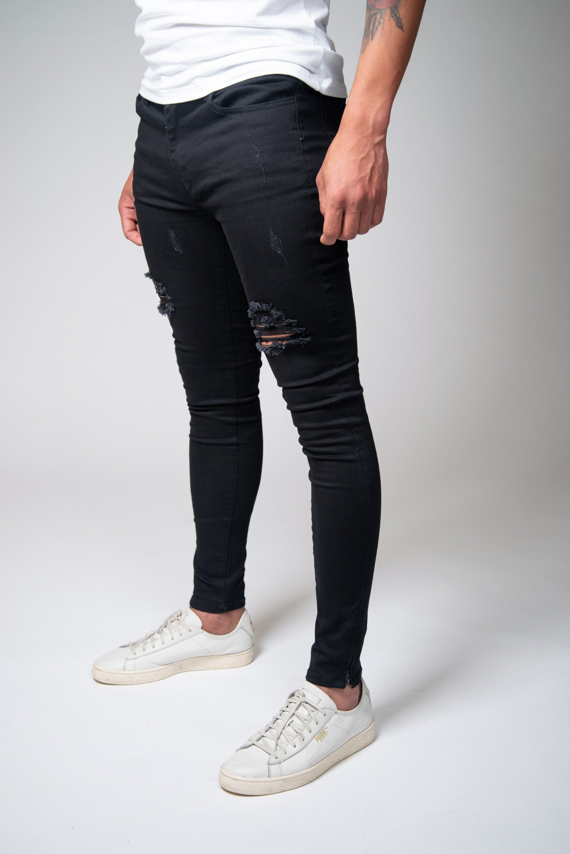 Jet Black Super Spray On Jeans - Ripped   Repaired – Jeans23 acf6e28cc1