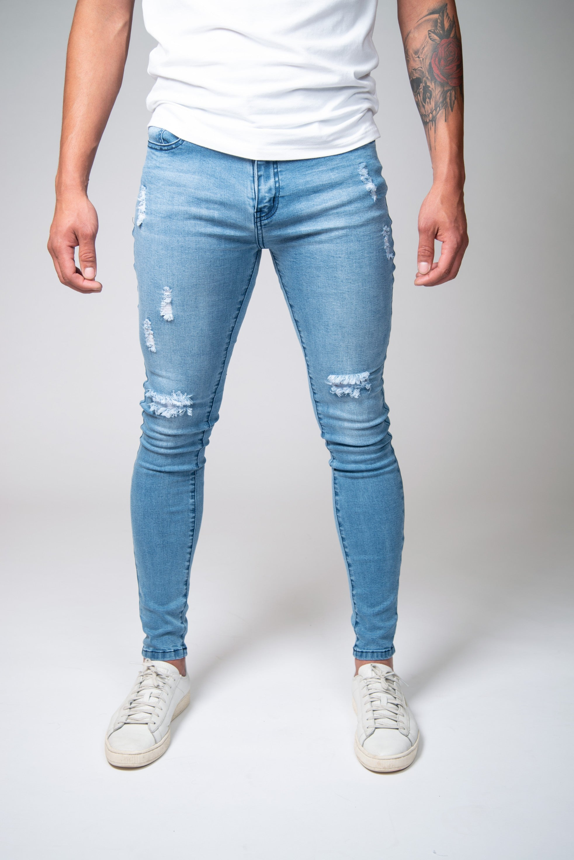 7c5421f0863 Light Blue Jeans - Ripped   Repaired – Jeans23