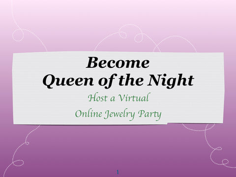 Host a Virtual Online Jewelry Party