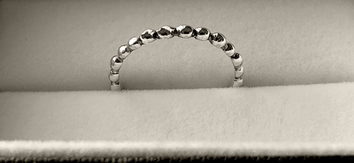 Beaded Stack Ring in Sterling Silver