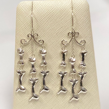 Load image into Gallery viewer, Bone Chandelier Earrings in Sterling Silver
