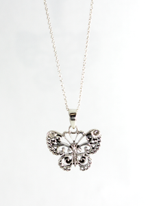 Butterfly Pendant with Swarovski in Sterling Silver