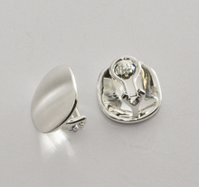 Load image into Gallery viewer, Sterling Silver Button Clip-on Earrings