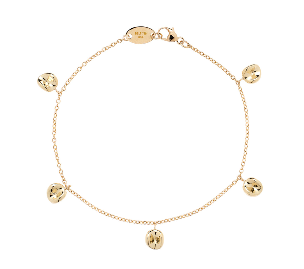 Dimple Bracelet in 18 Karat Yellow Gold
