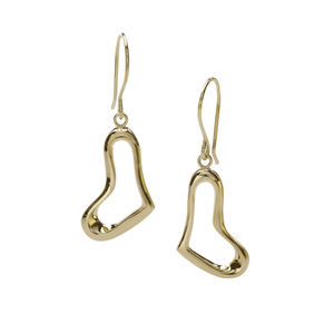 Heart Earring in 18 Karat Yellow Gold