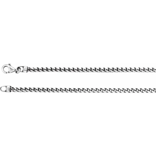 Sterling Silver 3 mm Franco Chain