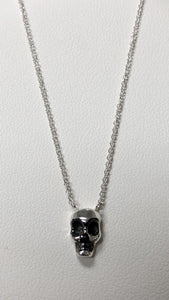Skull on silver chain