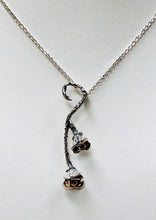 Load image into Gallery viewer, Lullaby Rose Vertical Pendant in Sterling Silver
