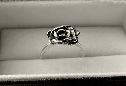 Rose Stack Ring in Sterling Silver