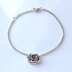 Rose Bracelet in Sterling Silver