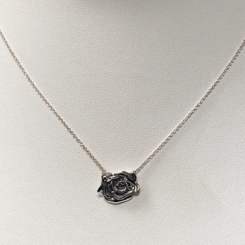 Rose Pendant in Sterling Silver