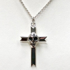 Skull Cross on Sterling Silver Chain
