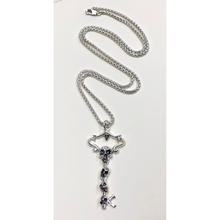 Load image into Gallery viewer, Skull Key with Sterling Silver Chain