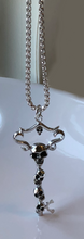 Load image into Gallery viewer, sterling silver sculpted key necklace with silver chain