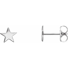 Load image into Gallery viewer, Star Earrings in 14K White