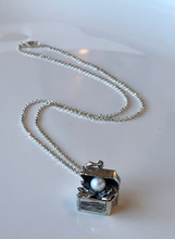 Load image into Gallery viewer, Treasure Box Pearl Pendant in Sterling Silver