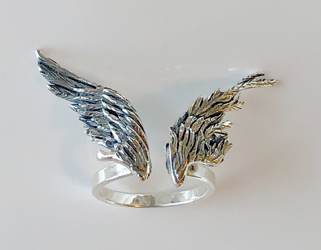 Large Wing Ring in Sterling Silver