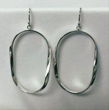 Load image into Gallery viewer, Large Twisted Hoop Earring in Sterling Silver