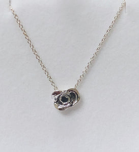 Lullaby Tiny Rose Pendant in Sterling Silver