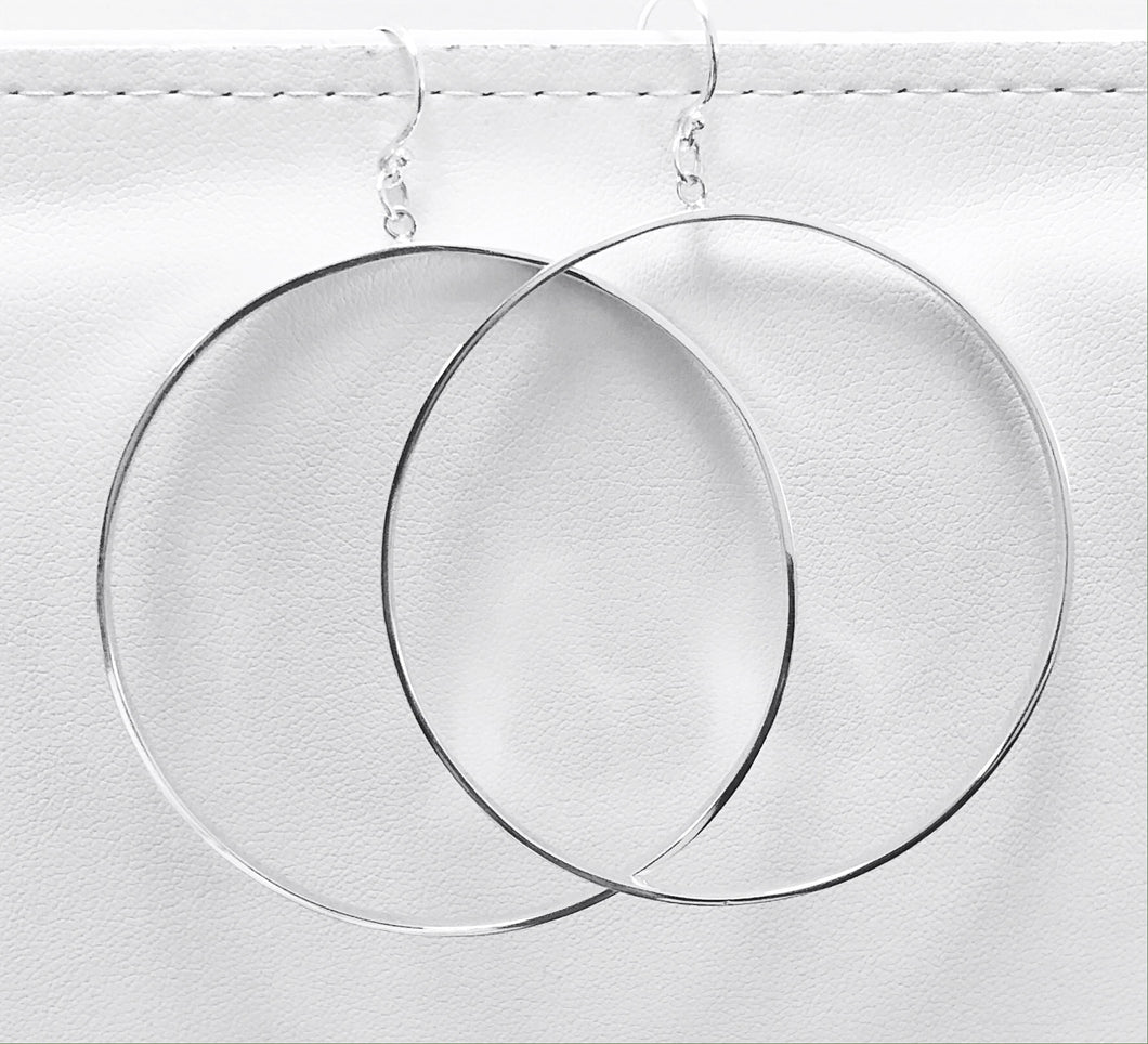 Large Hoop Earring in Sterling Silver