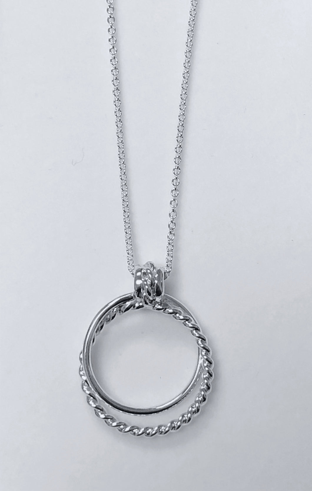 Twisted Hoop Pendant in Sterling Silver