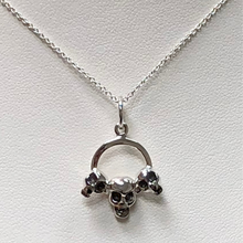 Load image into Gallery viewer, Three Skulls in Sterling Silver