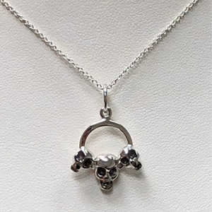 Three Skulls in Sterling Silver