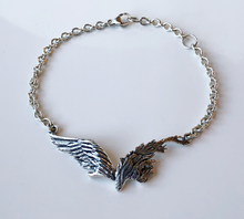 Load image into Gallery viewer, Angel Wings Sterling Silver Bracelet