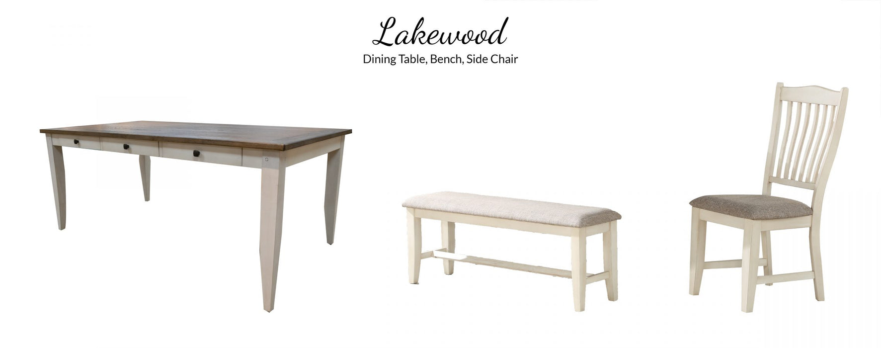 Lakewood Gray/White Dining Table
