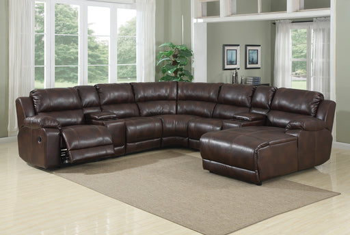 Caramel Brown Sectional (Optional Chaise)