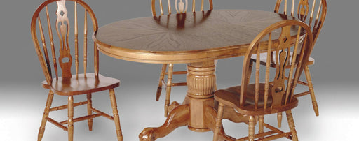 Enhanced Oak Oval Empire Pedestal Table