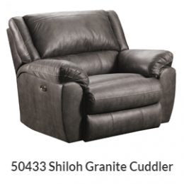 Shiloh Granite Pad-Over Chaise Power Cuddler Recliner