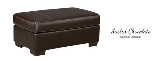 Austin Chocolate Ottoman by Affordable Furniture