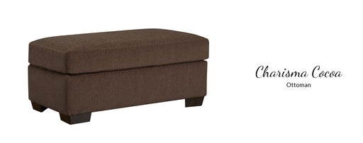 Charisma Cocoa Ottoman by Affordable Furniture