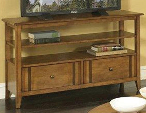 Birch W/Walnut Inlay TV Console