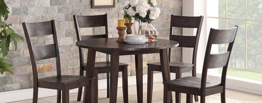 Wirebrush Dark Oak Drop Leaf Dining Room Set