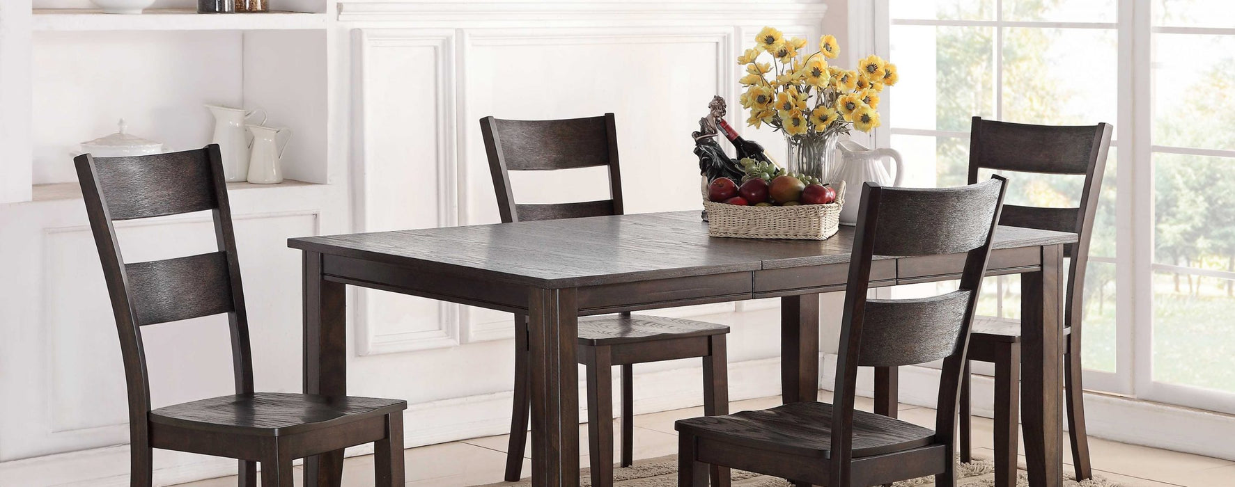 Wirebrush Dark Oak Dining Table