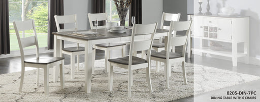 Grey and White Dining Room Set