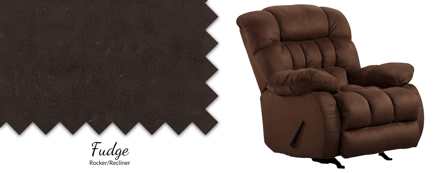 Suede Pad Over Chaise Rocker/Recliner