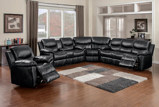 Champion Black Reclining Sectional